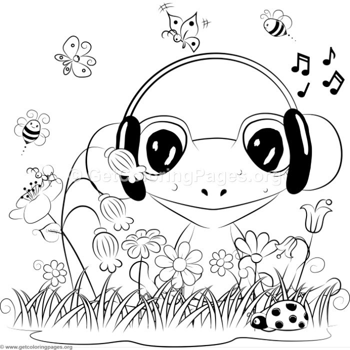700x700 Cute Frog Coloring Pages