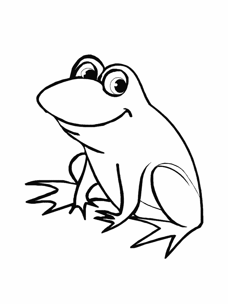 768x1024 Cute Frog Coloring Pages