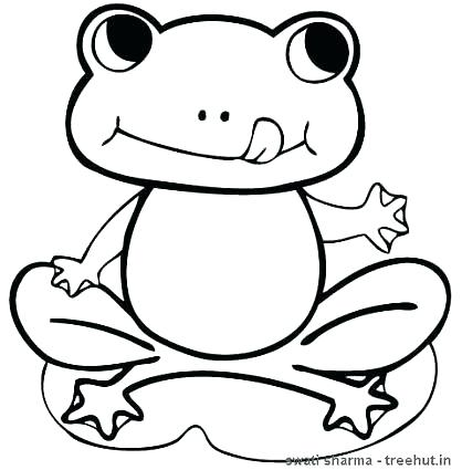 418x425 Frog Color Pages Cute Frog Coloring Pages Lovely Cute Frog