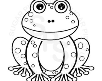 340x270 Frog Coloring P On Animal Cute Frog Coloring Pages Printable
