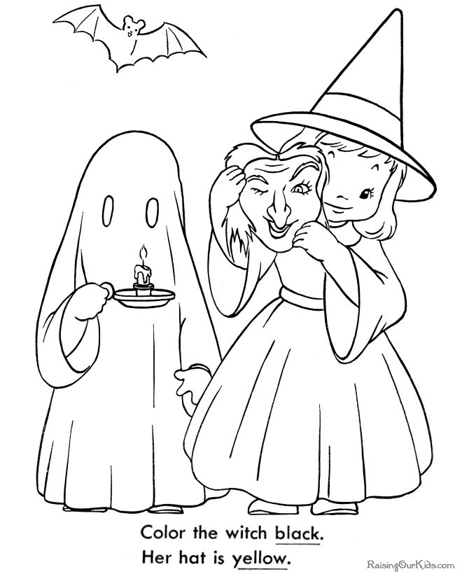 Cute Ghost Coloring Pages