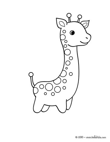 364x470 Cute Giraffe Coloring Pages