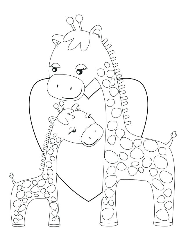 640x828 Giraffe Coloring Page Minimalist Giraffe Coloring Page Fee Baby