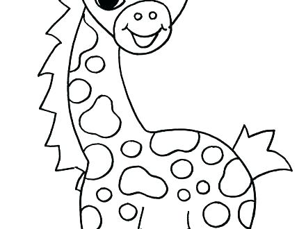 440x330 Giraffe Coloring Pages Baby Giraffe Coloring Pages Coloring Sheets