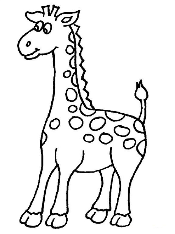 600x801 Giraffe Coloring Pages