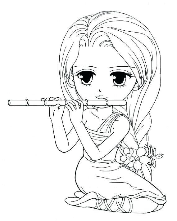 570x713 Cute Girl Coloring Pages