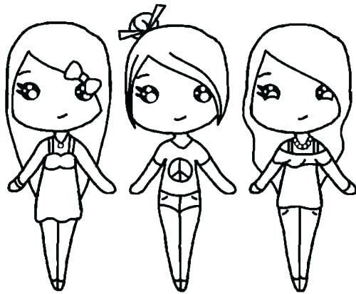 500x413 Cute Kawaii Girl Coloring Pages Icontent