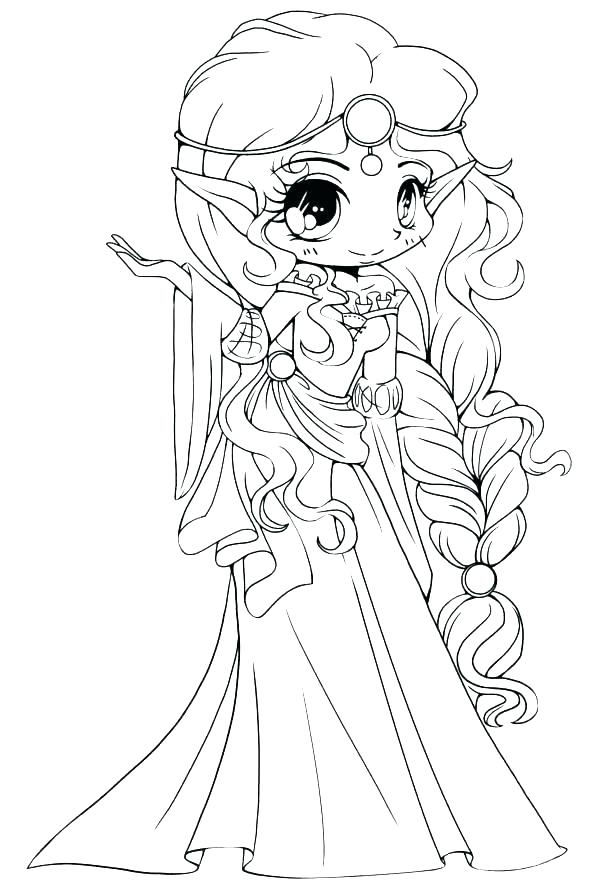 600x891 Cute Little Girl Coloring Pages Icontent