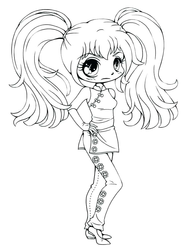 750x1000 Cute Anime Girl Colouring Pages Coloring Cool To Print Character