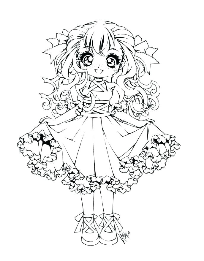 687x879 Anime Coloring Sheets Cute Anime Coloring Pages To Print Medium