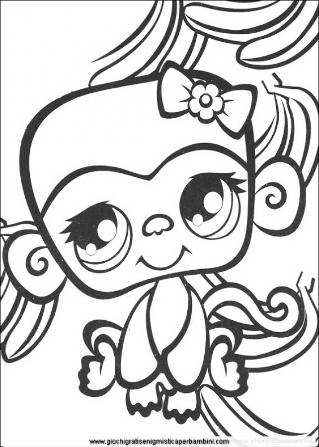 642x900 Littlest Pet Shop Girly Monkey Cute Coloring Pages Free To Print