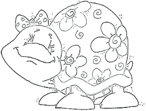 500x382 Printable Turtle Coloring Pages Cute Coloring Pages Of Turtles