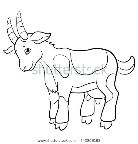 450x470 Goat Coloring Pages Cute Goat Coloring Pages Coloring In Good Top
