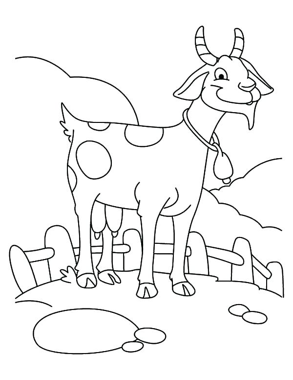 600x776 Goat Coloring Pages Goat Coloring Pictures Goat Farming Goat