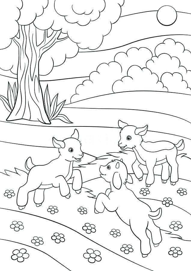 636x900 Baby Goat Coloring Pages Kids Activities Coloring Pages Farm