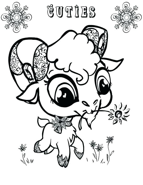 600x776 Coloring Pages Of Goats