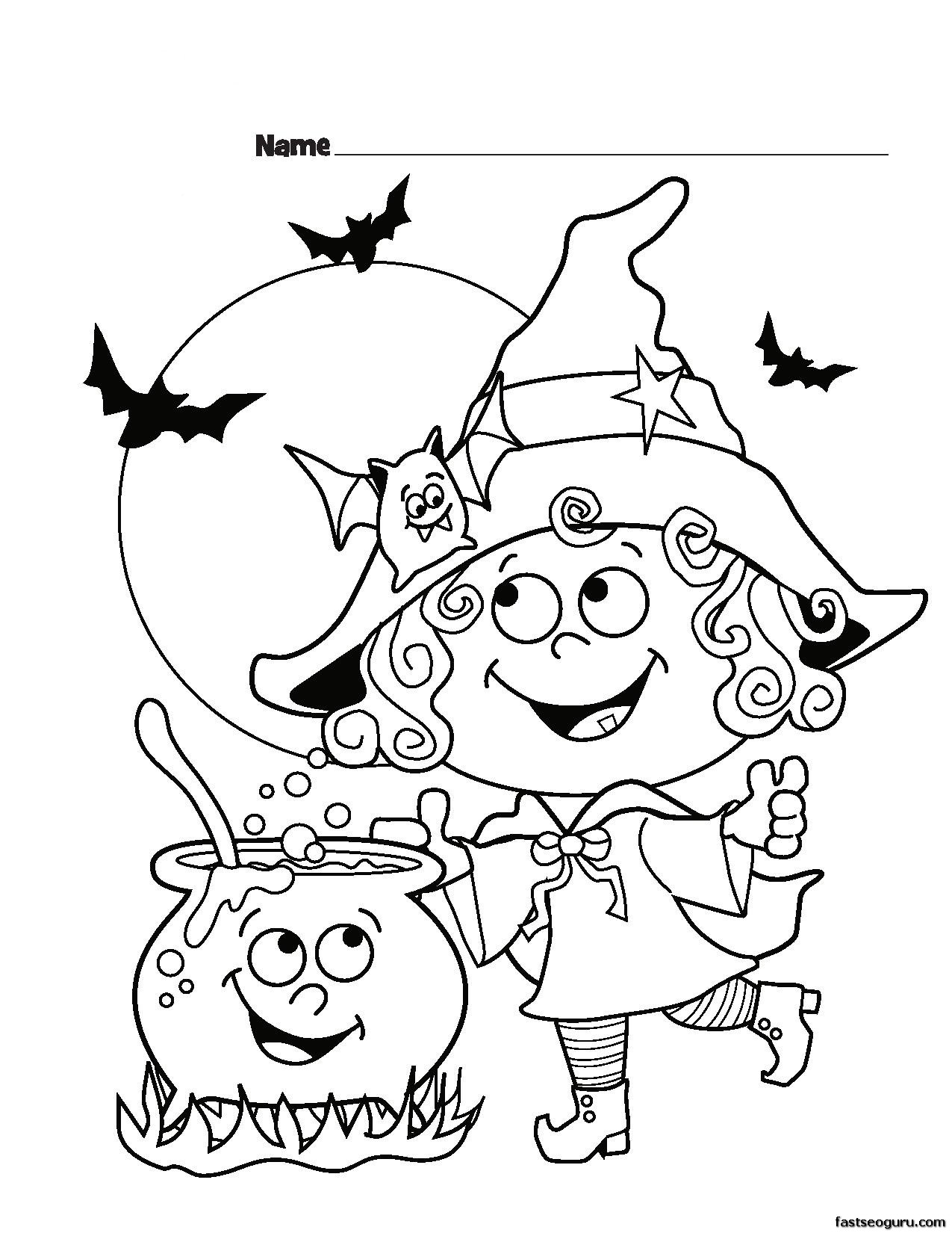 Cute Halloween Coloring Pages at GetDrawings.com | Free for personal ...