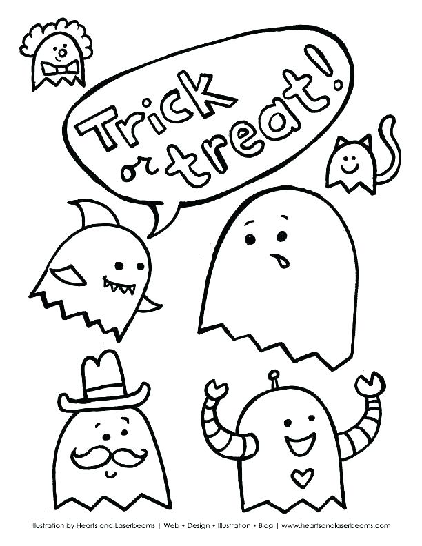 Cute Halloween Coloring Pages Printable At Getdrawings Com