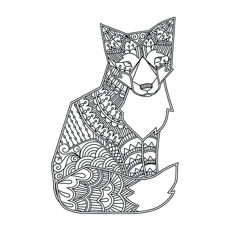 736x736 Hard Animal Coloring Pages Adult Coloring Pages Hard Cute Animal