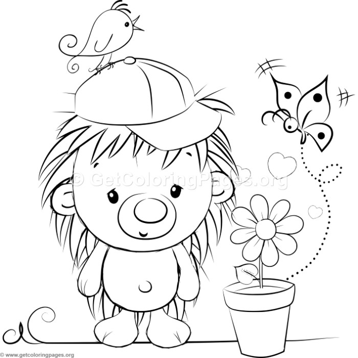 700x700 Cute Hedgehog Coloring Pages