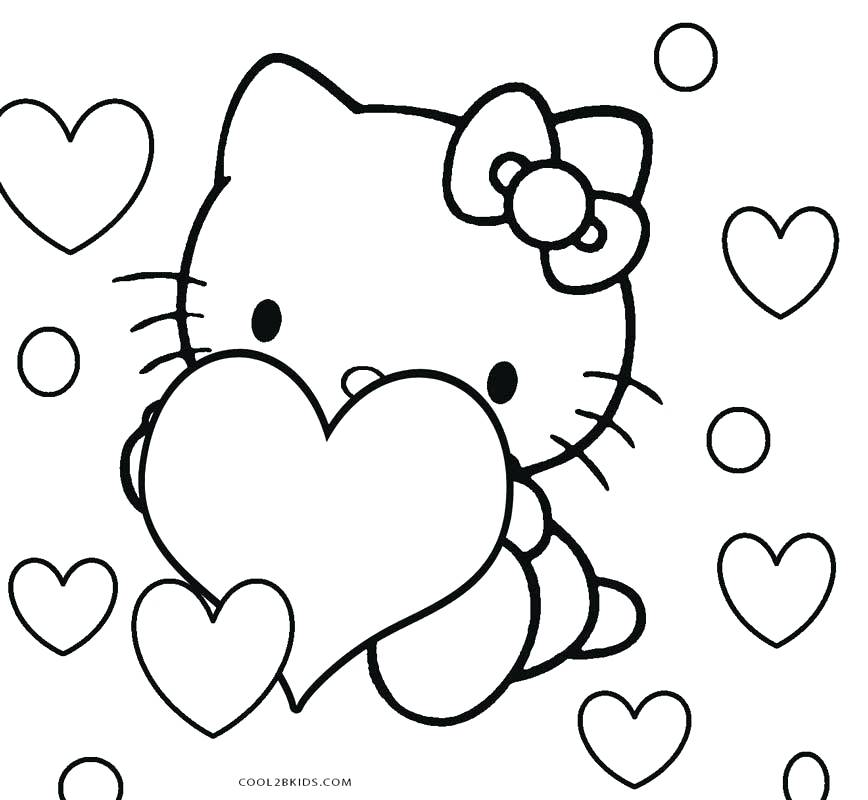 868x800 Hello Kitty Coloring Page Hello Kitty Color Pages Cute Kitty Cat