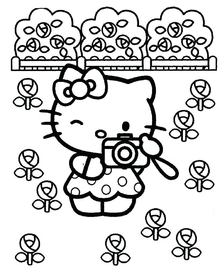 Cute Hello Kitty Coloring Pages At Getdrawings Free Download