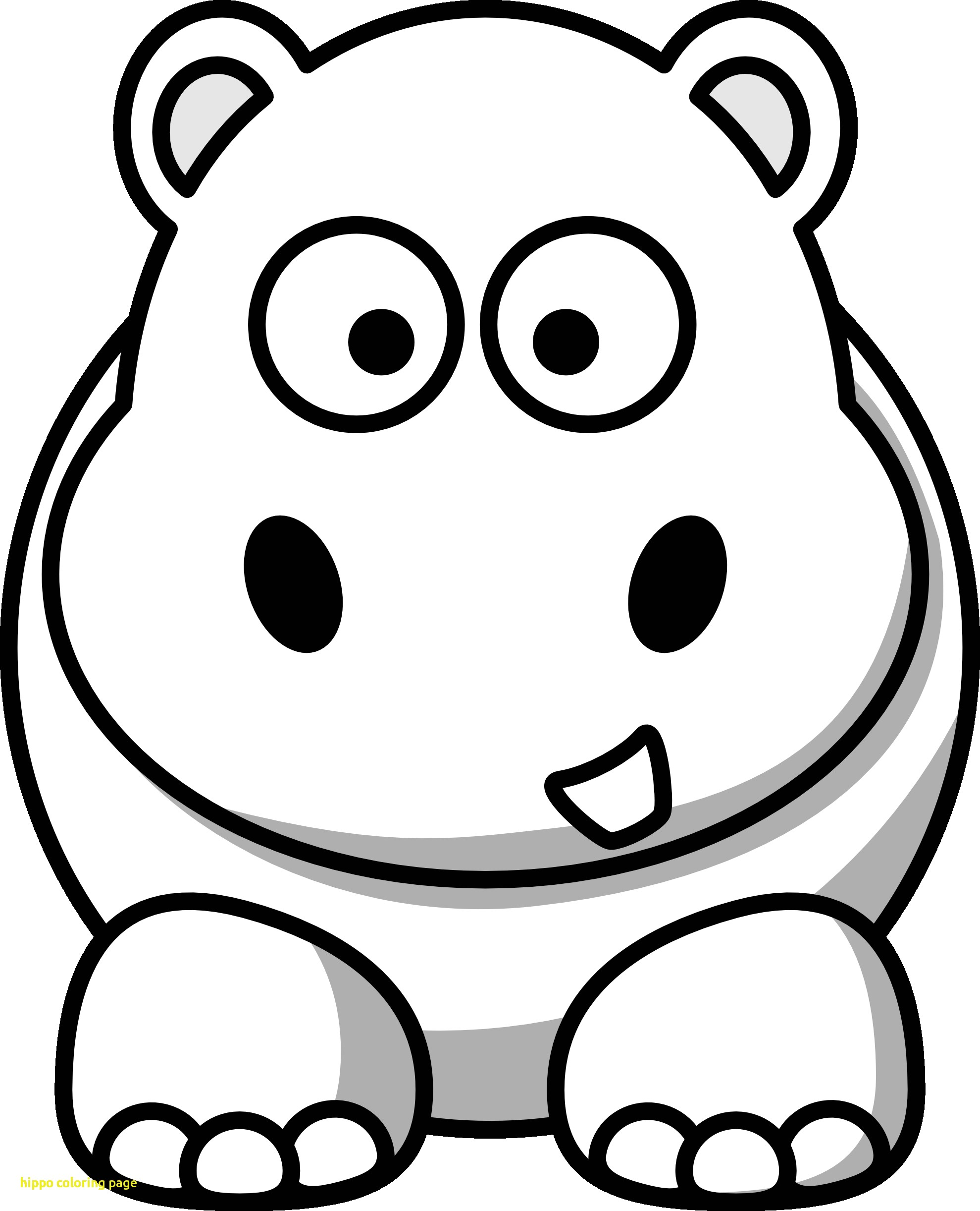 Cute Hippo Coloring Pages at GetDrawings | Free download