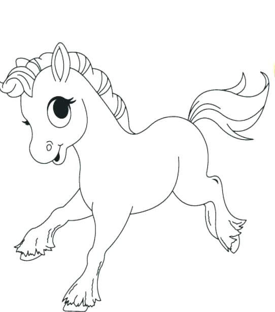 Cute Horse Coloring Pages