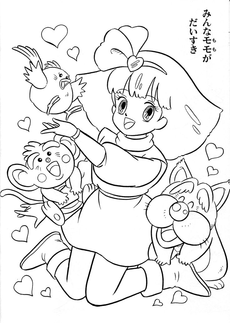 Cute Japanese Coloring Pages
