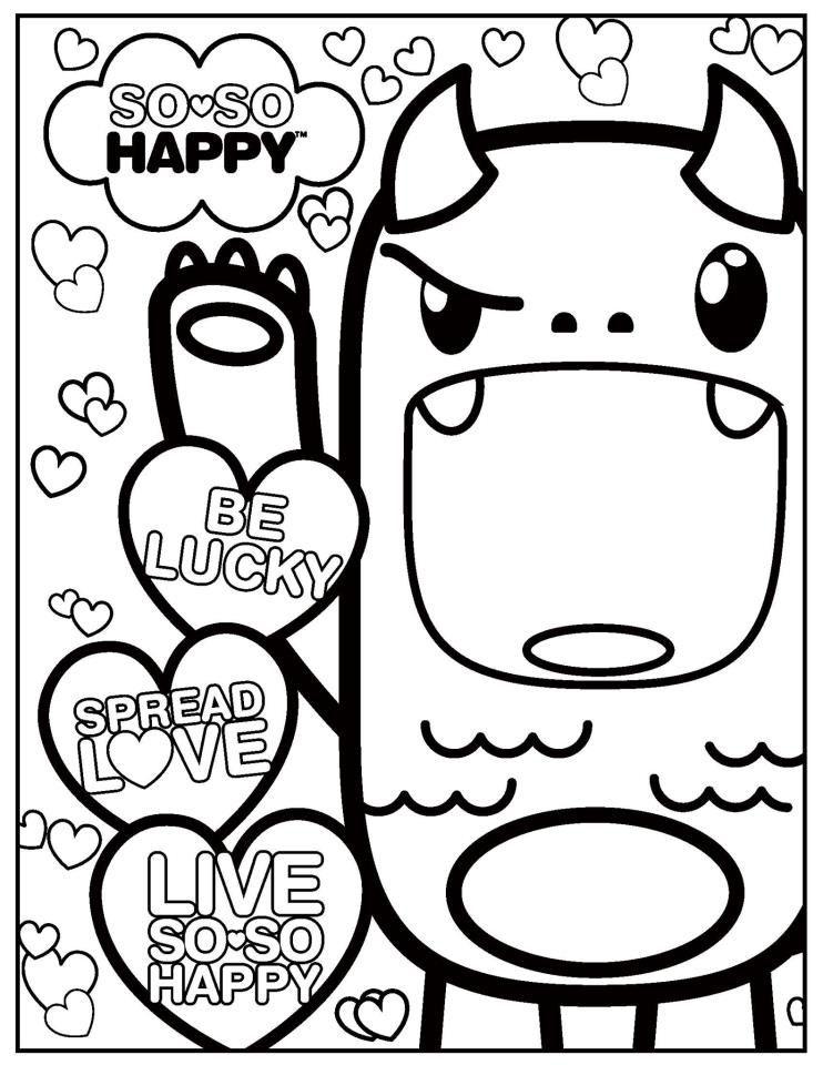 cute kawaii coloring pages 16