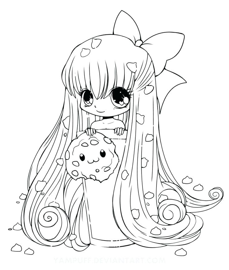 736x870 Kawaii Coloring Pages Cute Food Coloring Pages Kawaii Girl
