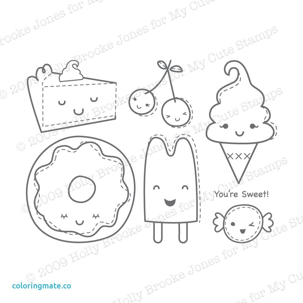 Cute Kawaii Food Coloring Pages