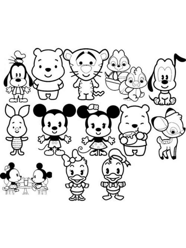 750x1000 Cute Disney Coloring Pages Free Printable On Cute Kawaii Food