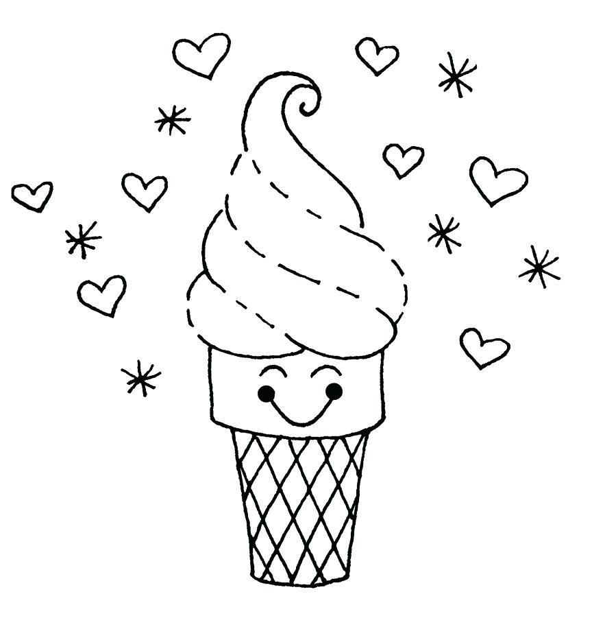 864x917 Cute Food Coloring Pages