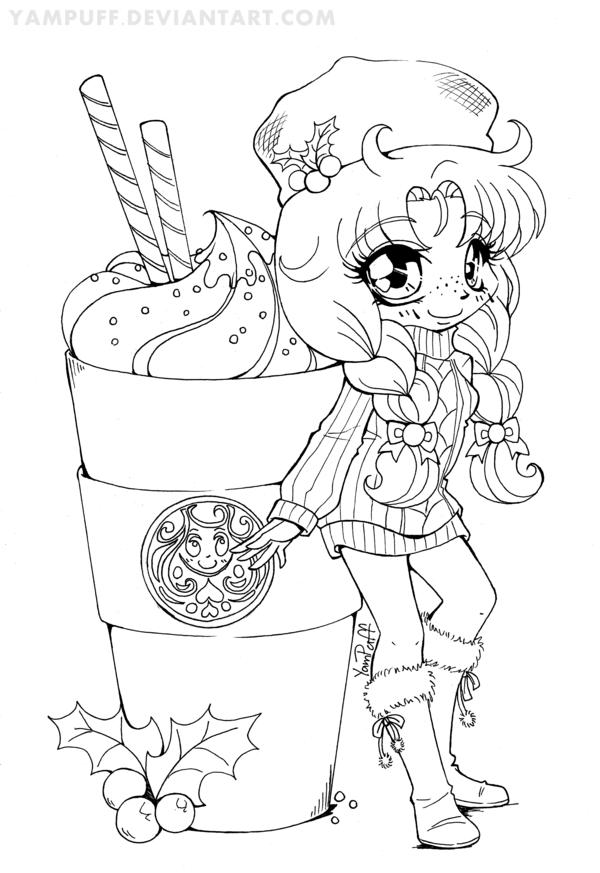600x873 Cute Kawaii Food Coloring Pages