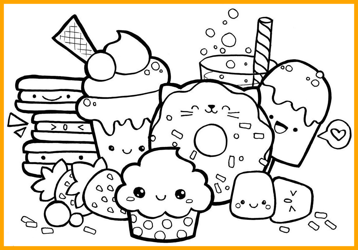 1226x858 Kawaii Food Coloring Pages Unique Kawaii Coloring Pages Cute Food