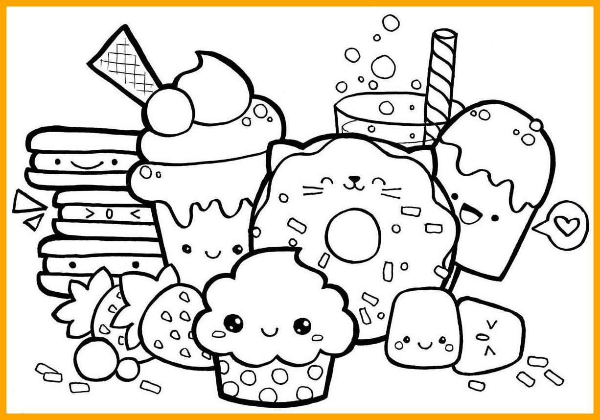 Cute Kawaii Food Coloring Pages At Getdrawings Free Download