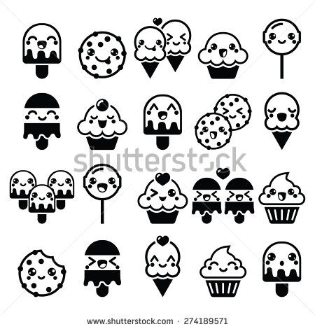 450x470 Old Fashioned Cute Kawaii Food Coloring Pages Pattern