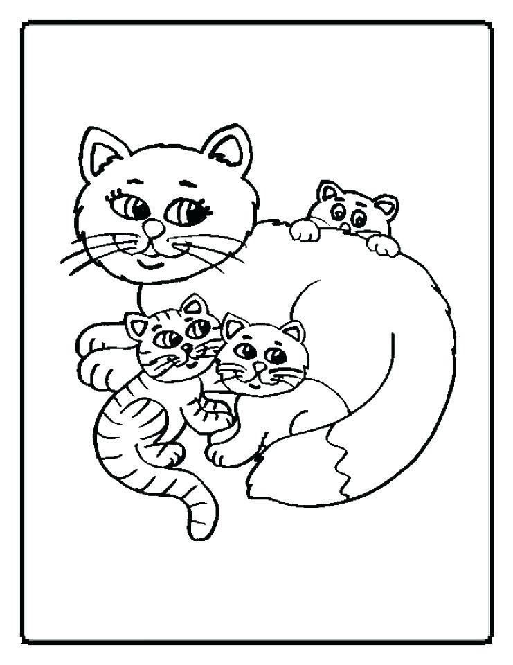 741x960 Awesome Coloring Pages Kittens Printable Cute Kitten Coloring
