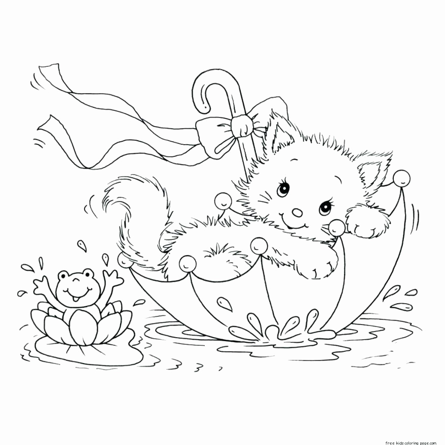 878x879 Cute Kitten Coloring Pages Pictures Coloring Page Kitten Cute