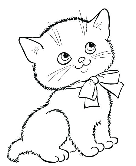 449x547 Cute Kitten Coloring Pages Printable Kittens Color Baby Cat Colori