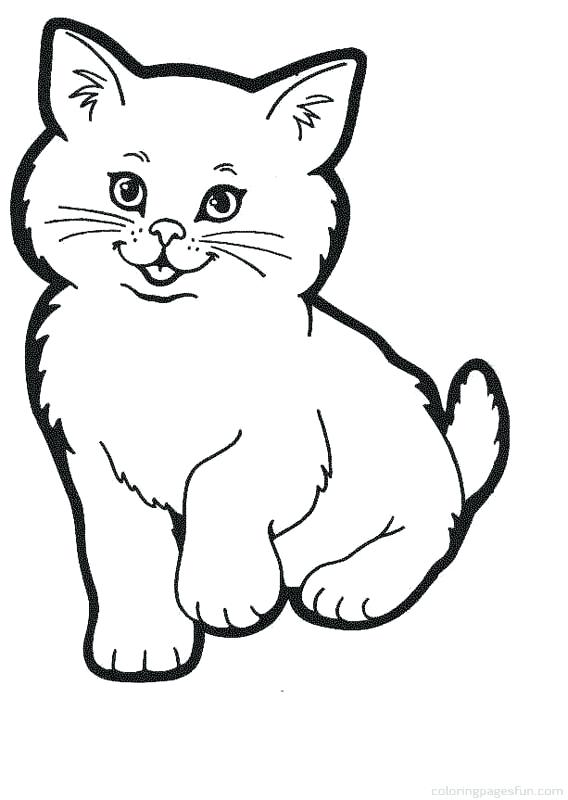 568x800 Kitten Coloring Pages Simple Cute Kitten Coloring Page Free