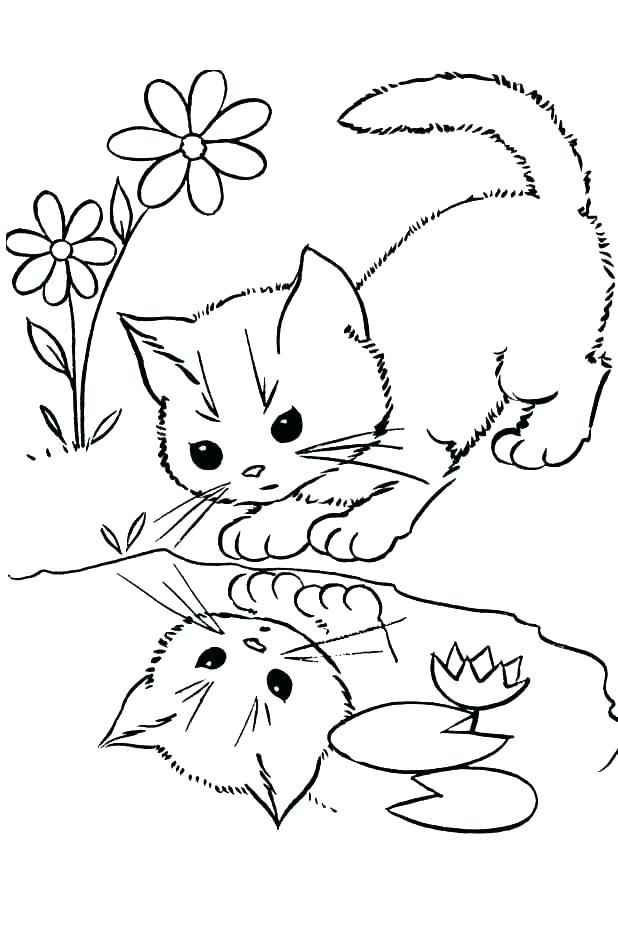 618x946 Kitten Coloring Pages Print Puppy And Kitten Coloring Pages