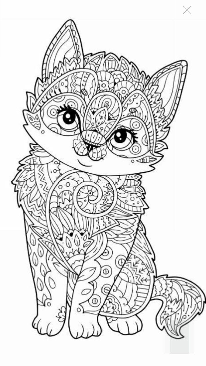 720x1280 Printable Cute Kitten Coloring Page More Pins Like