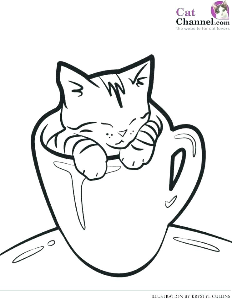 742x960 Puppy And Kitty Coloring Pages Extraordinary Baby Kittens Coloring