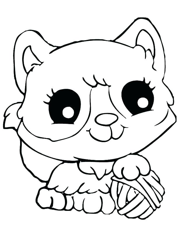 618x800 Christmas Kitten Coloring Pages
