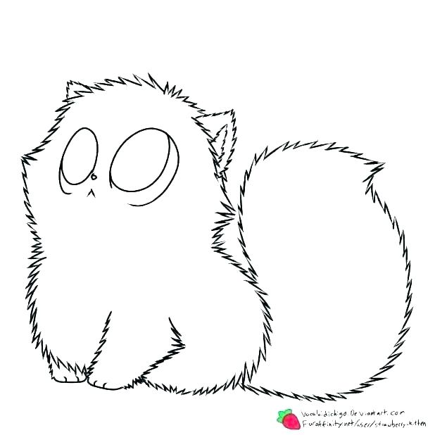 618x618 Coloring Page Kitten