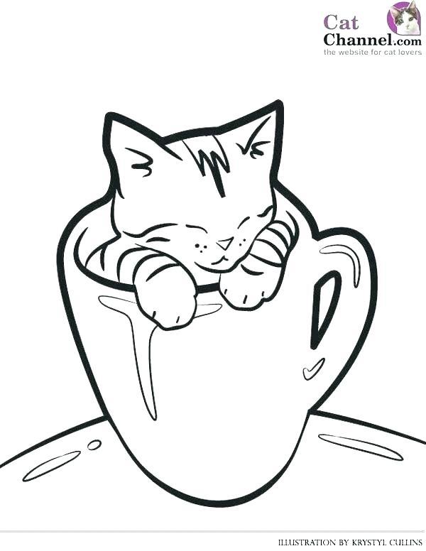 600x776 Cute Kitten Coloring Pages Cute Kitten Coloring Pages Cute Kitten