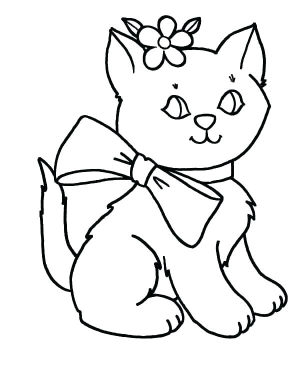 600x734 Cute Kitten Coloring Pages Kitten Color Pages Cute Kitten Coloring
