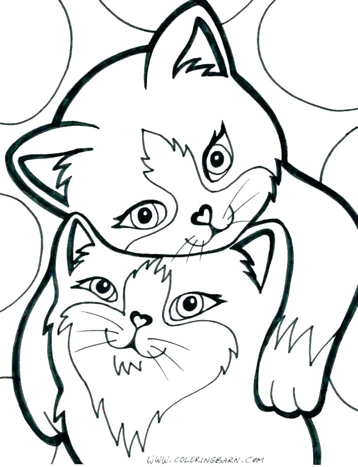 736x960 Printable Kitten Coloring Pages Cat Mother And Kitten Cute Kitten
